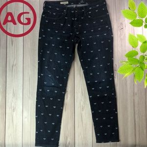 AG Adriano Goldschmied  Jeans Size 29R Hearts